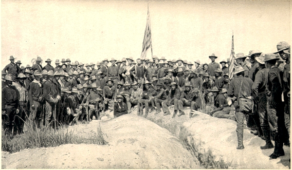 Teddy Roosevelt on San Juan Hill (Photo Uncropped)