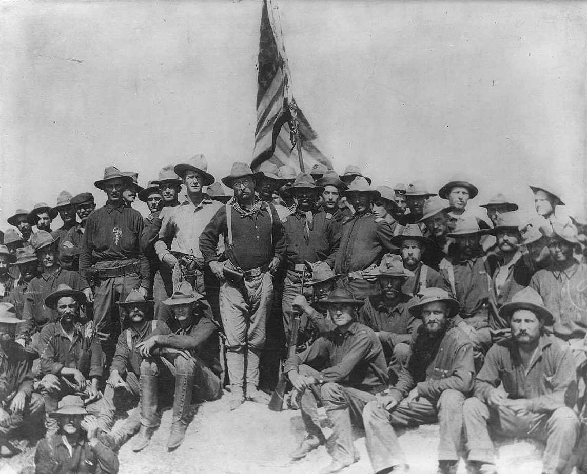 Teddy Roosevelt on San Juan Hill (Photo Cropped)